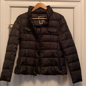 Fitted black down filled jacket